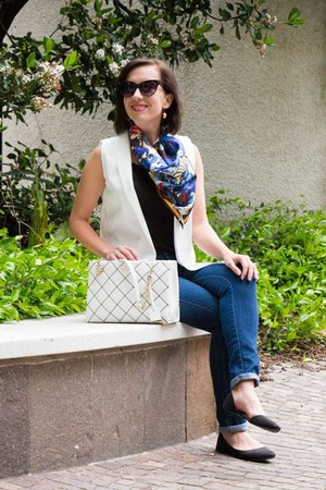 sleeveless shein blazer - quilted kate spade bag