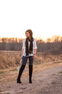 Over-the-knee-dsw-boots-button-up-vanity-top
