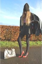 black asos hat - blue new look shirt - dark brown Misstella bag