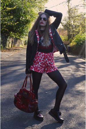 black UNIF jacket - red Jones  Jones blazer - red Jones-  Jones shorts