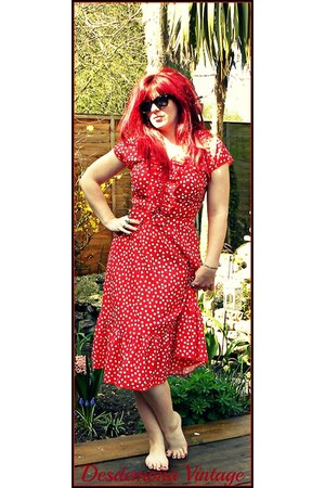 polka dot vintage dress