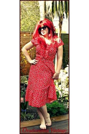 polka dot vintage dress