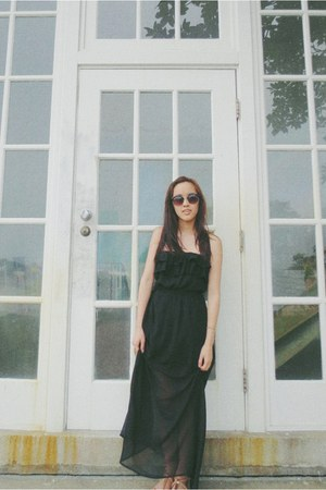 black maxi Forever 21 skirt - camel Forever 21 bag