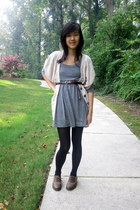 beige drapey thrifted cardigan - gray sweater Forever 21 dress