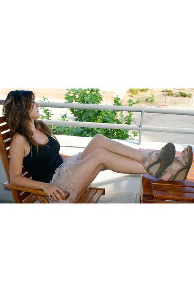 Zara skirt - Diesel shirt - Mango belt