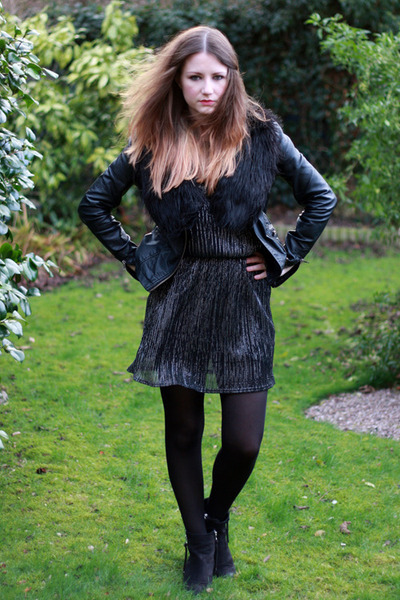 black inlovewithfashion dress - black ambush boots Topshop boots