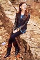 black B Hip By Me Jane jacket - blue Next Era shirt - black xhilaration leggings