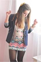 salmon Bershka skirt - ivory Primark shirt
