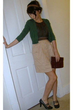 blouse - jacket - skirt - belt - shoes - purse