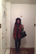 H&M coat - Urban Outfitters boots - Forever 21 jeans - H&M hat - Aldos bag