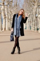 sky blue Gérard darel scarf - black Tommy Hilfiger boots
