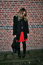 vintage boots - Sfera dress - Zara coat - Mulberry bag