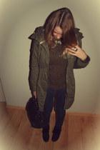 Zara necklace - H&M coat