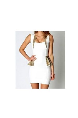 off white Flouncing sequined skirt Tight party dre dress - off white dress