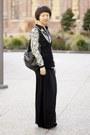Ivory-bird-zara-shirt-black-leather-bow-lipglossandblack-necklace