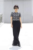 black H&M top - Zara skirt