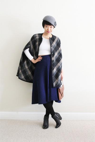 heather gray Nine West hat - black Dolce Vita boots - charcoal gray Zara cape