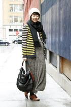 brown oxford miz mooz shoes - black revel NY bag - brown Max Studio skirt