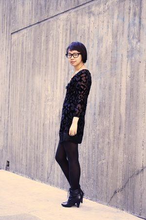 black Juicy Couture dress - black Aldo boots