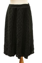 black anne taylor loft skirt