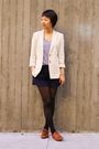 Beige-ann-taylor-blazer-blue-martin-and-osa-shorts-brown-shoes