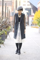 gray Nine West hat - white lace chictopia shop storet skirt