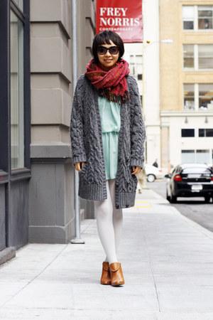 light blue StyleSofia dress - bronze Fairy Tales are True shoes