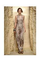 silver DKNY dress