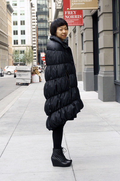 black nicole miller coat