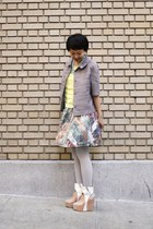 beige akiraxchictopia Jeffrey Campbell shoes - light purple ann taylor jacket -