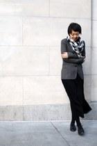 black leather Aldo shoes - gray BCBG blazer - black Anne Klein scarf - black zoe