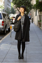 black swacket Harputs Market coat - black calvin klein bag