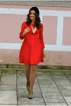 Made In shoes - Zara dress - FABSHOP hat - Uterque necklace