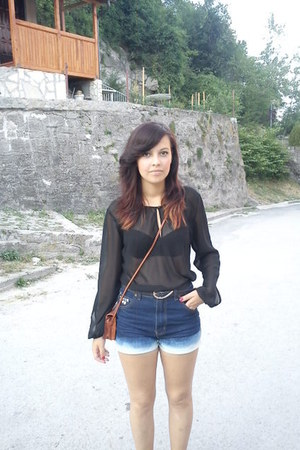 black transparent KappAhl blouse - tawny lindex bag