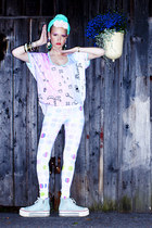 aquamarine seppl hat - light blue QooQoo leggings - light pink QooQoo shirt