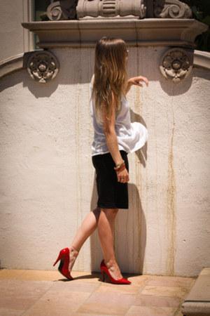 Zara t-shirt - H&M skirt - Aldo heels