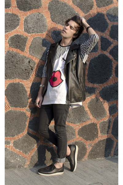 asos t-shirt - H&M jeans - Forever 21 vest - Gourmet sneakers