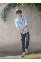 H&M jeans - pull&bear jacket - Ray Ban sunglasses - Zara sneakers - Gap t-shirt