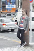 H&M jacket - asos jeans - H&M t-shirt - Vans sneakers