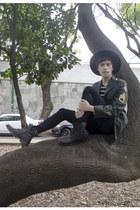 Buffalo Exchange jacket - asos boots - asos jeans - H&M hat - Zara t-shirt