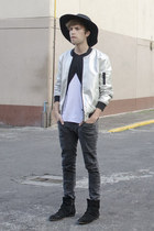 Wonderplace Korea hat - asos boots - H&M jeans - asos jacket - asos t-shirt