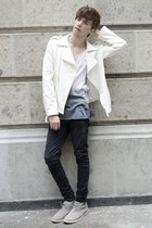 Tiny Deal jacket - Frank Wright boots - Dr Denim jeans - H&M t-shirt