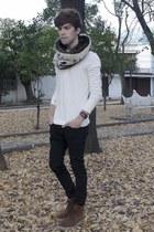 David Beckham for H&M t-shirt - pull&bear boots - asos jeans - Zara scarf