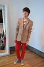 Peoples-market-jeans-maison-martin-margiela-for-h-m-blazer-converse-sneakers