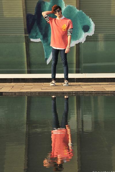 asos jeans - Ray Ban sunglasses - Vans sneakers - Scotch & Soda sweatshirt