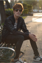 H&M jeans - H&M jacket - Ray Ban sunglasses - H&M t-shirt