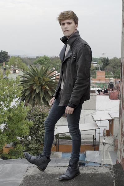 pull&bear jeans - Paruno boots - pull&bear jacket - H&M sweatshirt
