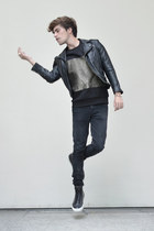 Frank Wright sneakers - Dr Denim jeans - H&M jacket - Zara sweatshirt