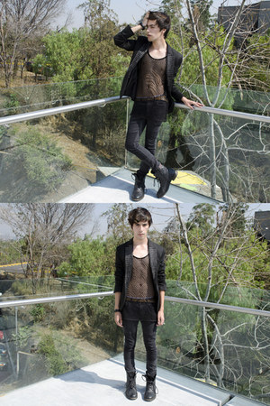 H&M t-shirt - asos boots - H&M jeans - Zara blazer
