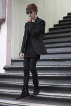 asos boots - Dr Denim jeans - asos sweater - united colors of benetton blazer